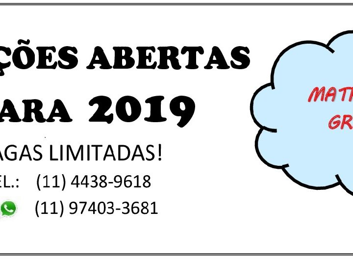 VAGAS ABERTAS PARA 2019
